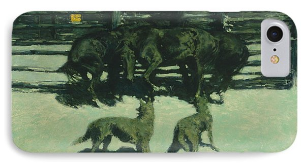 The Call For Help IPhone Case by Frederic Remington
