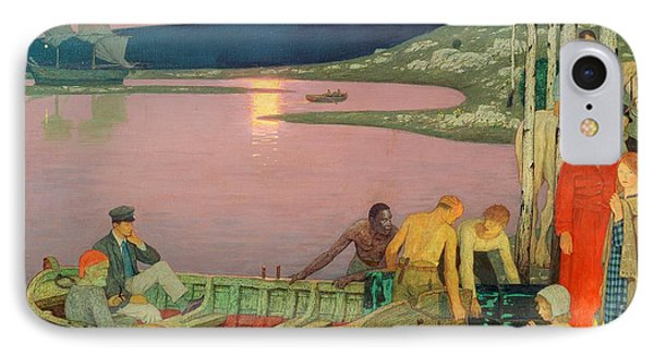 The Call Of The Sea IPhone Case by Frederick Cayley Robinson
