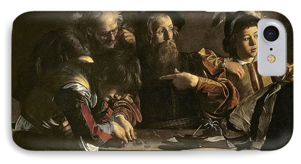 The Calling Of St. Matthew Phone Case by Michelangelo Merisi da Caravaggio