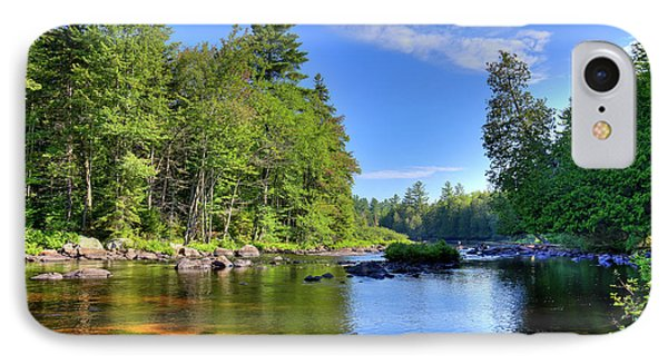 IPhone 7 Case featuring the photograph The Calm Below Buttermilk Falls by David Patterson