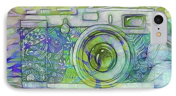 IPhone Case featuring the digital art The Camera - 02c5b by Variance Collections