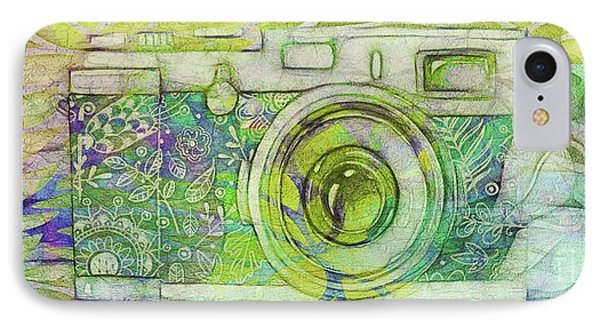 IPhone Case featuring the digital art The Camera - 02c5bt by Variance Collections