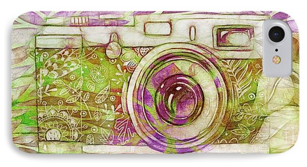IPhone Case featuring the digital art The Camera - 02c6t by Variance Collections