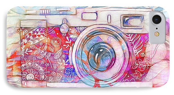IPhone Case featuring the digital art The Camera - 02c8v2 by Variance Collections