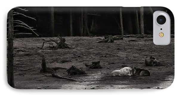 The Canyon Alphas B/w IPhone Case