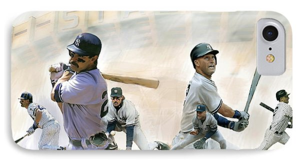 The Captains II Don Mattingly And Derek Jeter IPhone 7 Case by Iconic Images Art Gallery David Pucciarelli