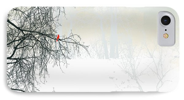 IPhone Case featuring the digital art The Cardinal by Trilby Cole