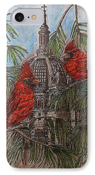 The Cardinals Visit St.pauls Cathedral IPhone Case by Kim Jones