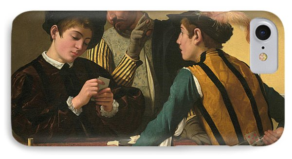 The Cardsharps  IPhone Case by Caravaggio