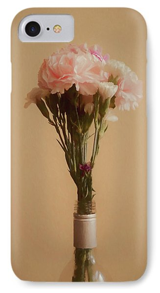 IPhone Case featuring the digital art The Carnations by Ernie Echols