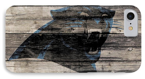 The Carolina Panthers Wood Art IPhone Case