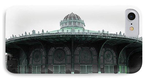 The Carousel House Asbury Park Nj Green IPhone Case by Terry DeLuco
