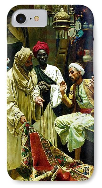 The Carpet Seller - Cairo IPhone Case by Pg Reproductions