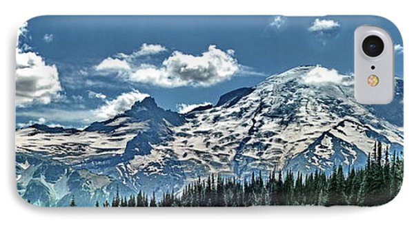 The Cascade Mountains And Mt. Rainier IPhone Case by Ansel Price