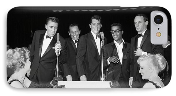 The Cast Of Ocean's 11 And Members Of The Rat Pack. IPhone Case by The Titanic Project