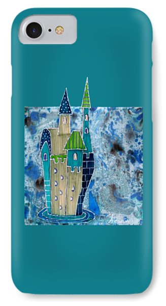 The Castle Descends IPhone Case by Aqualia