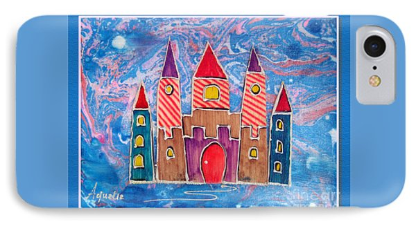 The Castle Is Festive IPhone Case by Aqualia