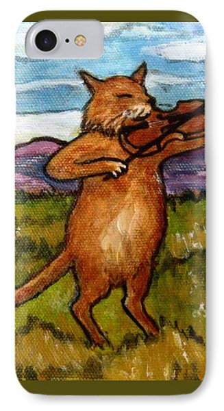 The Cat And The Fiddle Phone Case by Frances Gillotti