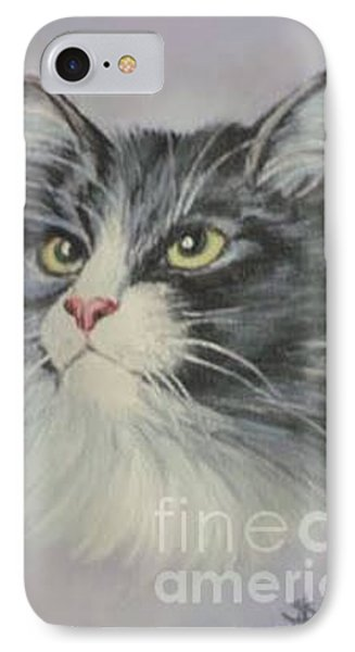 IPhone Case featuring the painting The Cat by Sorin Apostolescu