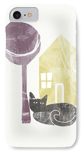 The Cat's House- Art By Linda Woods IPhone Case by Linda Woods