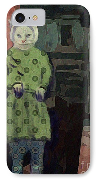 IPhone Case featuring the digital art The Cat's Pajamas by Alexis Rotella