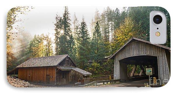 The Cedar Creek Grist Mill And Bridge. IPhone Case by Jamie Pham