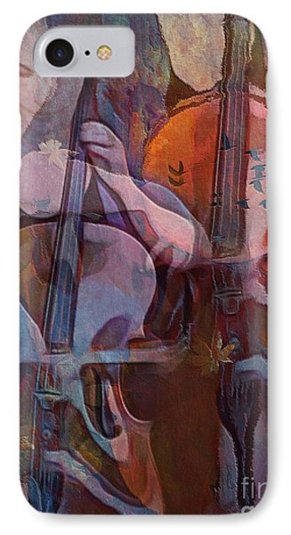 IPhone Case featuring the digital art The Cellist by Alexis Rotella