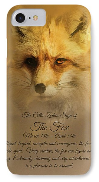 The Celtic Sign On The Fox IPhone Case by Stephanie Laird