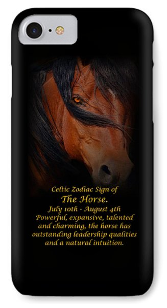 The Celtic Zodiac Sign Of The Horse IPhone Case by Stephanie Laird