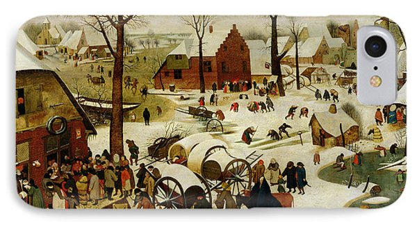 The Census At Bethlehem IPhone Case by Pieter the Younger Brueghel
