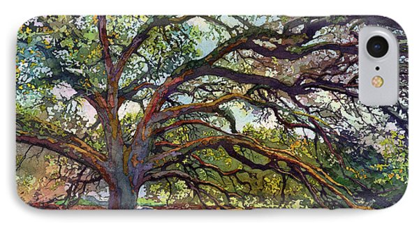 IPhone Case featuring the painting The Century Oak by Hailey E Herrera