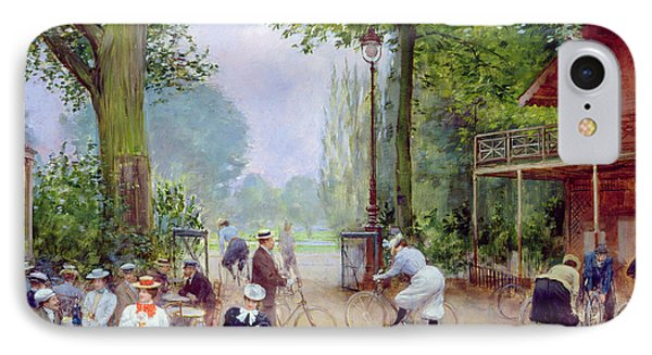 The Chalet Du Cycle In The Bois De Boulogne IPhone Case by Jean Beraud