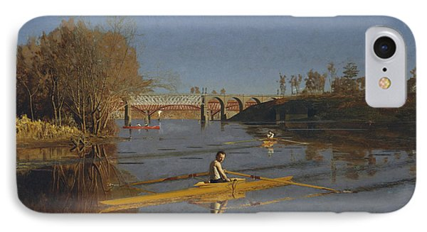 The Champion Single Sculls IPhone Case by Thomas Eakins