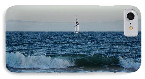 The Chardonnay Santa Cruz Sailboat IPhone Case by Marilyn MacCrakin