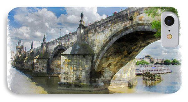 IPhone Case featuring the photograph The Charles Bridge - Prague by Tom Cameron