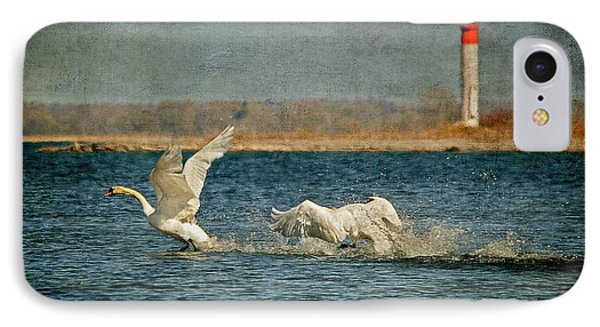 The Chase Is On Phone Case by Lois Bryan