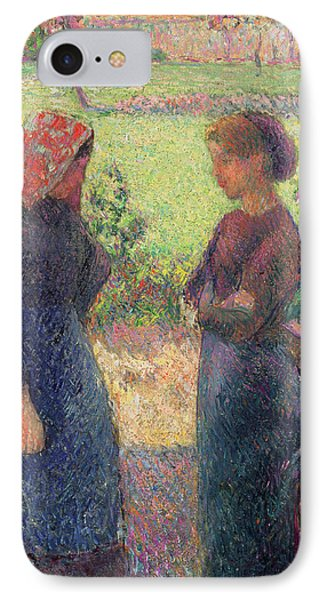 The Chat Phone Case by Camille Pissarro