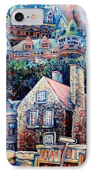 The Chateau Frontenac Phone Case by Carole Spandau