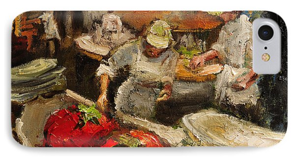 The Chefs Table At Hot And Hot IPhone Case by Carole Foret