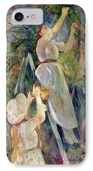 The Cherry Picker Phone Case by Berthe Morisot