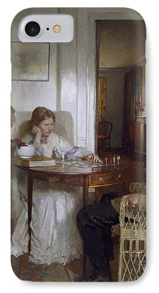 The Chess Players IPhone Case by Sir William Orpen