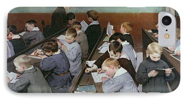 The Children's Class Phone Case by Henri Jules Jean Geoffroy