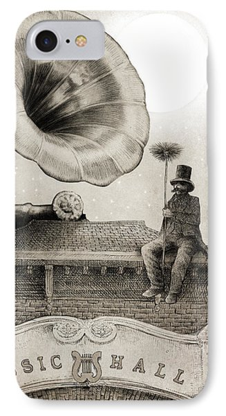 The Chimney Sweep Monochrome IPhone Case by Eric Fan