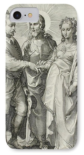 The Christian Marriage IPhone Case by Jan Saenredam