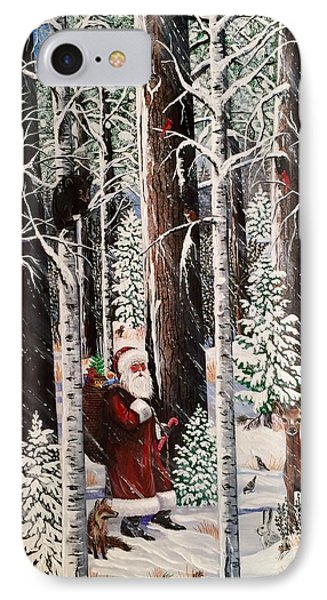 The Christmas Forest Visitor IPhone Case