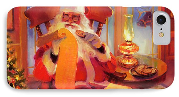 The Christmas List IPhone Case by Steve Henderson