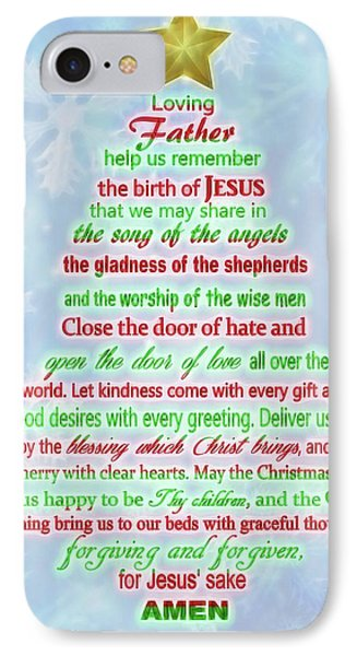 The Christmas Prayer IPhone Case by Dan Sproul