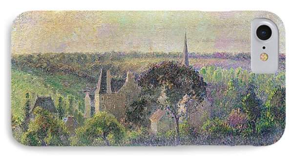The Church And Farm Of Eragny Phone Case by Camille Pissarro