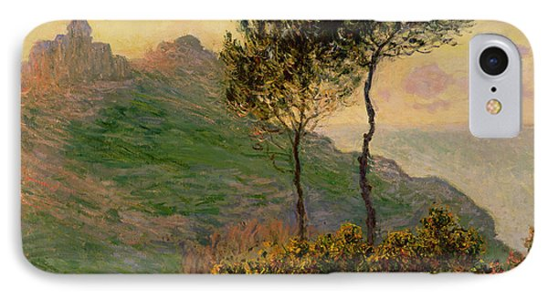 The Church At Varengeville Against The Sunlight IPhone Case by Claude Monet