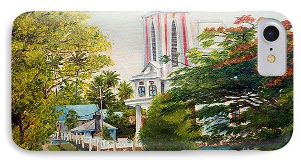 The Church In My Village IPhone Case by Jason Sentuf